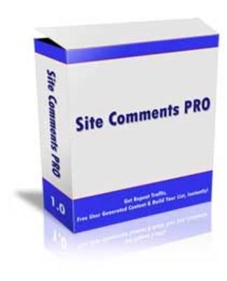 Product picture Site Comments Pro